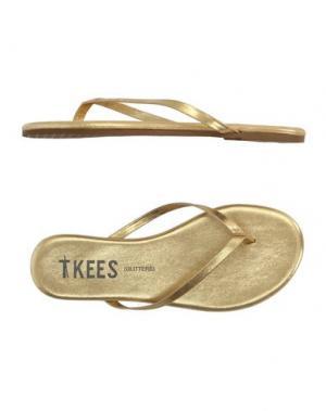 Вьетнамки TKEES. Цвет: золотистый