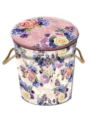 Пуфик Лиловые букеты Magic Home. Цвет: розовый
