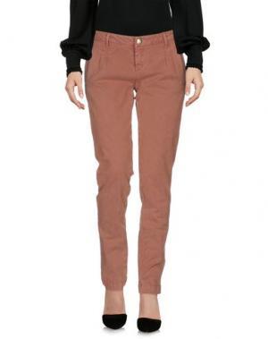 Повседневные брюки D-21. Цвет: ржаво-коричневый