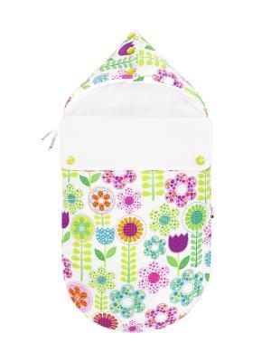 Конверт для новорождённого Лети, лепесток! (лето) MIKKIMAMA. Цвет: белый, зеленый, салатовый, голубой, фиолетовый, оранжевый, розовый, желтый