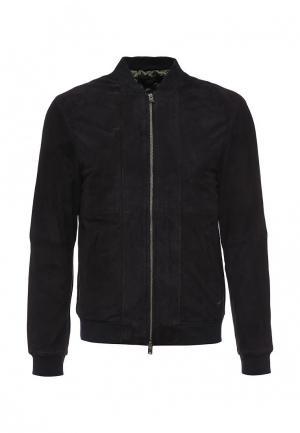 Куртка кожаная Liu Jo Uomo. Цвет: синий