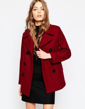 Gloverall Пальто клюквенного цвета Reefer. Цвет: красный