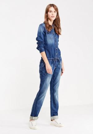Комбинезон джинсовый H.I.S. Цвет: синий