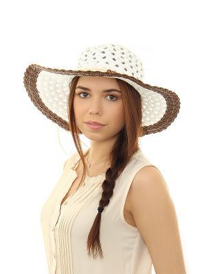 Шляпа Migura. Цвет: белый, коричневый