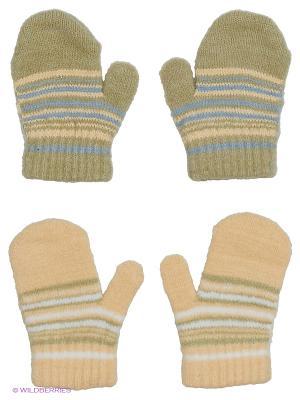 Варежки FOMAS. Цвет: оливковый, голубой, бежевый, белый