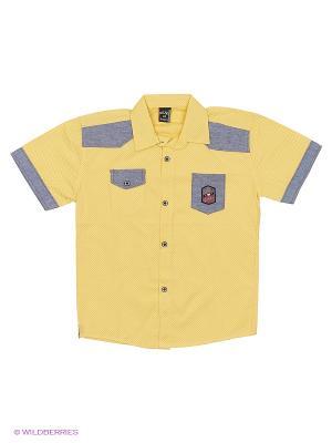 Рубашка WAXMEN. Цвет: желтый