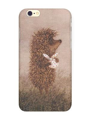 Чехол для IPhone 6 Ежик с котомкой Mitya Veselkov. Цвет: бежевый, красный