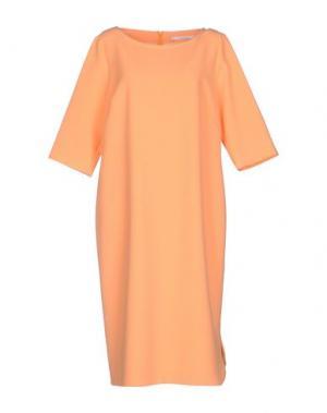 Платье до колена XANDRES. Цвет: оранжевый