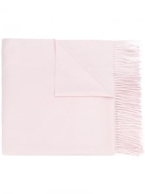 Шаль с бахромой N.Peal. Цвет: розовый и фиолетовый
