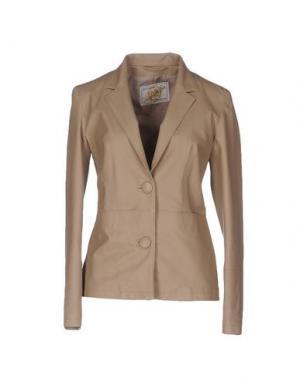 Пиджак VINTAGE DE LUXE. Цвет: голубиный серый