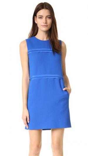 Свободное платье со вставками Victoria Beckham. Цвет: голубой кюрасао