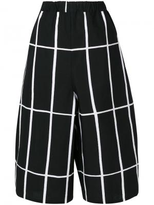 Printed cropped trousers Junya Watanabe Comme Des Garçons. Цвет: чёрный