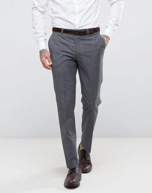 Harry Brown Облегающие брюки в клетку. Цвет: серый