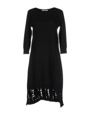 Короткое платье OBLIQUE CREATIONS. Цвет: стальной серый