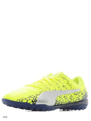Бутсы evoPOWER Vigor 4 GRAPHIC TT PUMA. Цвет: желтый