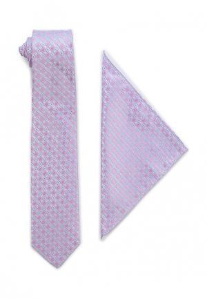 Галстук и платок VinzoVista. Цвет: розовый