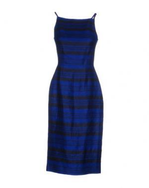 Платье до колена MARTIN GRANT. Цвет: синий