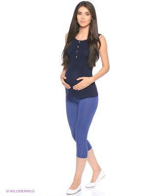 Майка для беременных и кормящих Hunny Mammy. Цвет: синий