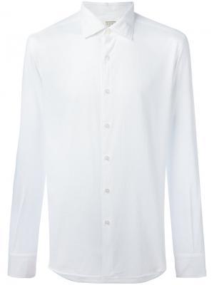 Рубашка с вафельной поверхностью Xacus. Цвет: белый