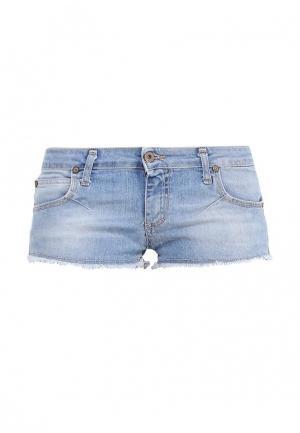 Шорты джинсовые Please. Цвет: голубой