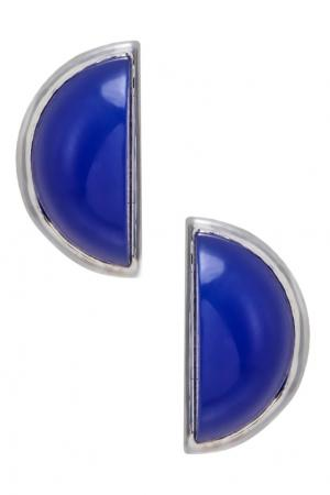 Серебряные серьги с халцедоном AVGVST by NATALIA BRYANTSEVA. Цвет: синий
