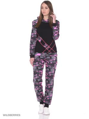 Спортивный костюм NAGOTEX. Цвет: розовый, черный