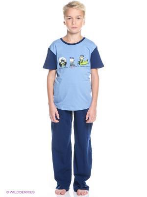 Пижама Nirey. Цвет: голубой, синий