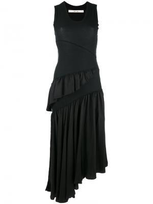 Платье с рюшами без рукавов Damir Doma. Цвет: чёрный