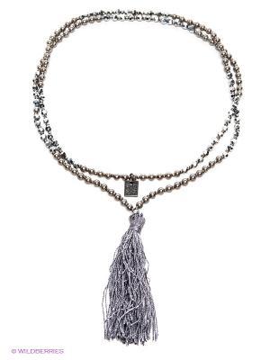 Ожерелье жемчужное Motivi. Цвет: серый