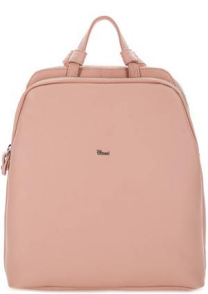 Кожаный рюкзак с двумя отделами Bruno Rossi. Цвет: розовый