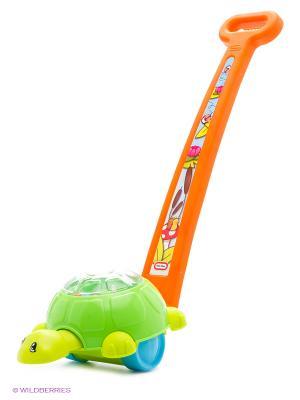 Игрушка каталка развивающая Черепашки Little Tikes. Цвет: зеленый, оранжевый
