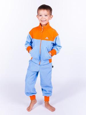 Штаны Чемпион ЛисФлис. Цвет: голубой, оранжевый