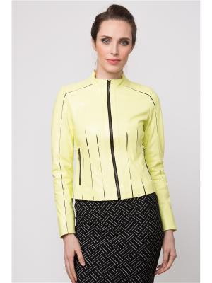 Кожаная куртка MONDIAL. Цвет: желтый