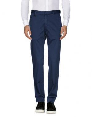 Повседневные брюки REPORTER. Цвет: темно-синий