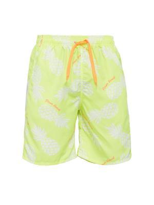Плавательные шорты Барбадос Nothing but Love. Цвет: желтый, белый, оранжевый