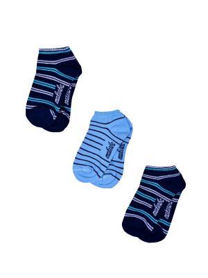 Носки Детские,комплект 3шт Malerba. Цвет: синий, голубой