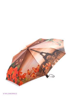 Зонт Flioraj. Цвет: коричневый, оранжевый