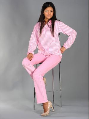 Велюровый костюм Тефия. Цвет: розовый, белый