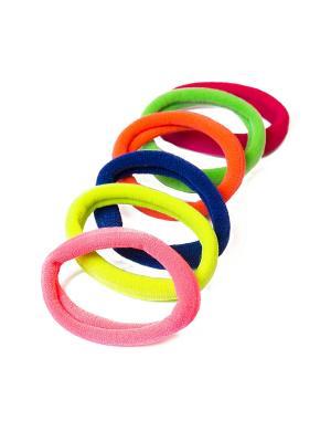 Резинка-браслет Mitya Veselkov. Цвет: зеленый, розовый, желтый, оранжевый, синий