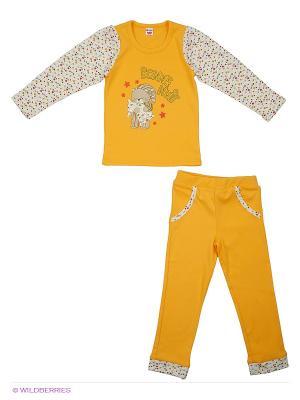 Пижама Unique. Цвет: желтый