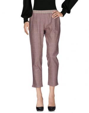 Повседневные брюки PUROTATTO. Цвет: красно-коричневый