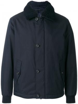 Куртка с меховым воротником Z Zegna. Цвет: синий