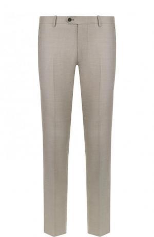 Шерстяные брюки свободного кроя Berwich. Цвет: бежевый