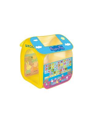 Игровая палатка Учим азбуку с Пеппой, Свинка Пеппа Peppa Pig. Цвет: голубой