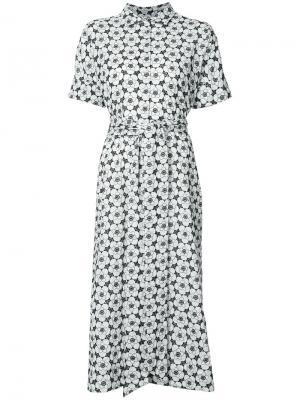 Платье на пуговицах с люверсами Lisa Marie Fernandez. Цвет: чёрный