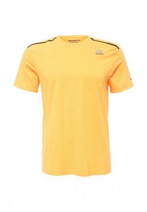 Футболка спортивная Reebok. Цвет: оранжевый