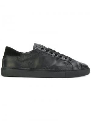 Кроссовки с тиснеными звездами D.A.T.E.. Цвет: чёрный