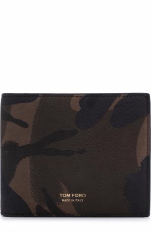 Кожаное портмоне с отделениями для кредитных карт Tom Ford. Цвет: оливковый
