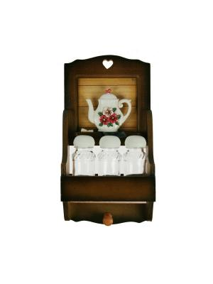 Коллаж-набор для специй Цветы Русские подарки. Цвет: светло-коричневый, белый