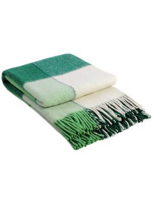 Плед Эльф, 170х210, рап.1 VLADI. Цвет: зеленый, салатовый, белый